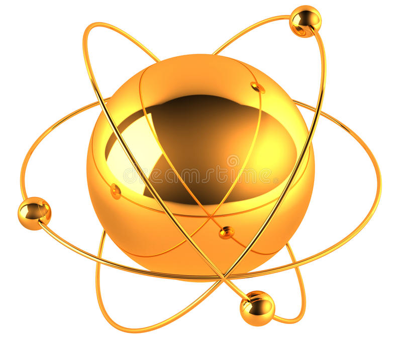 Atomo dell'oro royalty illustrazione gratis