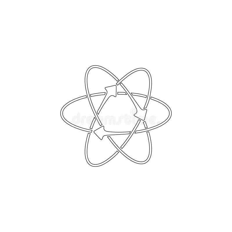 atomo Icona piana di vettore illustrazione di stock