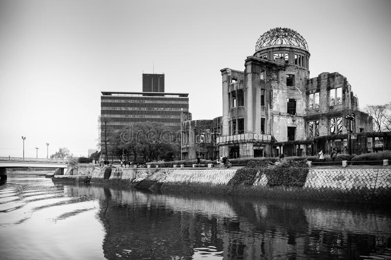 Atomowa kopuła - Hiroszima pokoju pamiątkowy park obraz royalty free