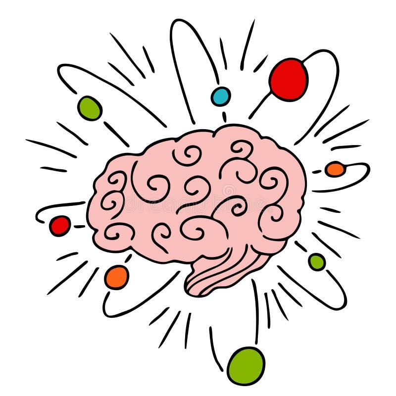 atomowa móżdżkowa władza ilustracja wektor