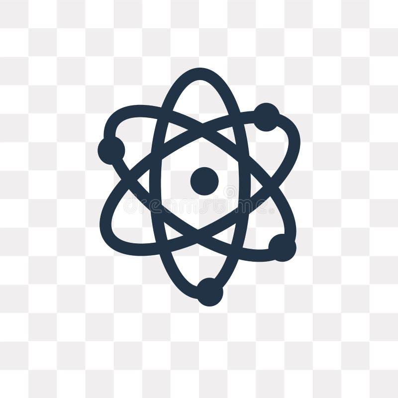 Atomowa wektorowa ikona odizolowywająca na przejrzystym tle, Atomowy t ilustracji