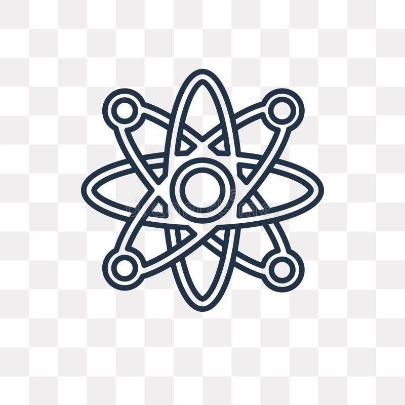 Atomowa wektorowa ikona odizolowywająca na przejrzystym tle, liniowym Przy ilustracja wektor