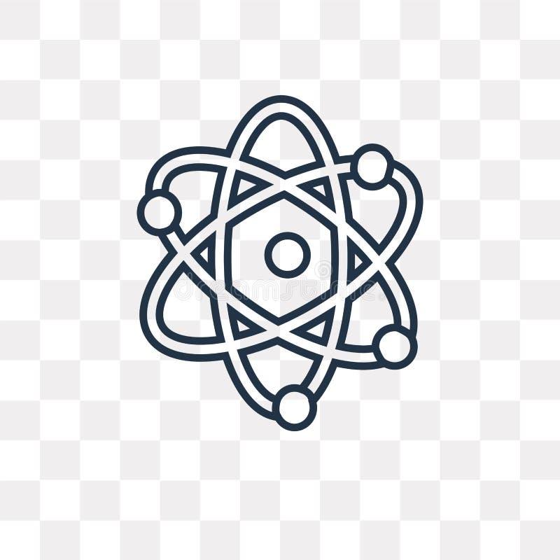 Atomowa wektorowa ikona odizolowywająca na przejrzystym tle, liniowym Przy ilustracji