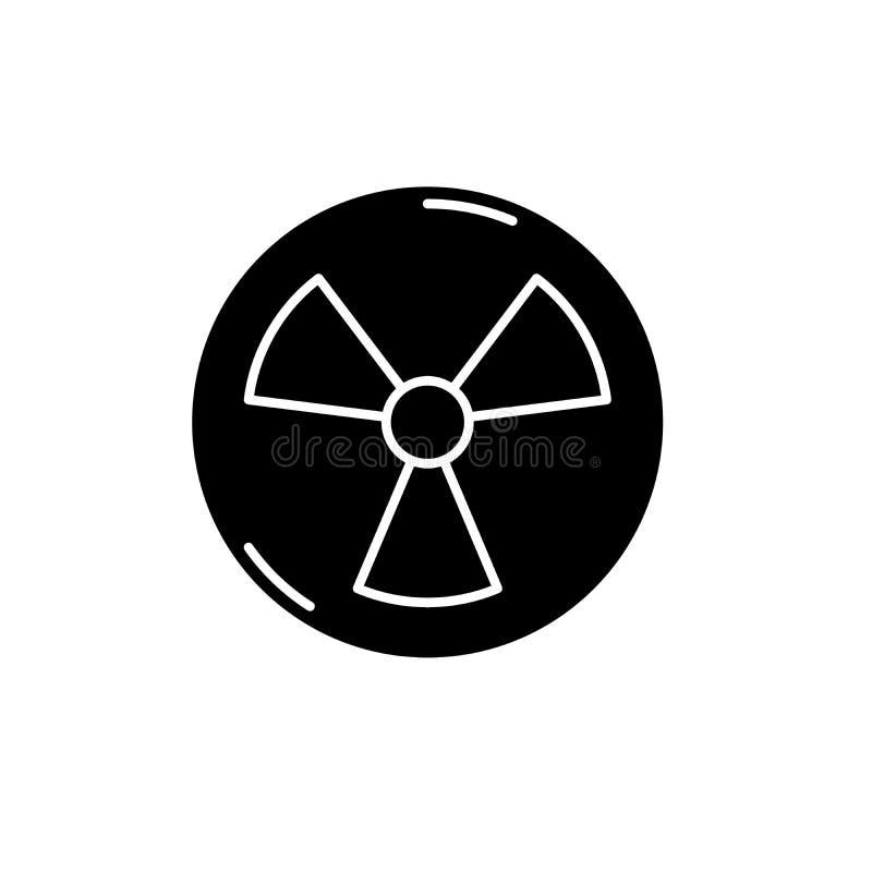 Atomowego przemysłu czerni ikona, wektoru znak na odosobnionym tle Atomowego przemysłu pojęcia symbol, ilustracja ilustracja wektor