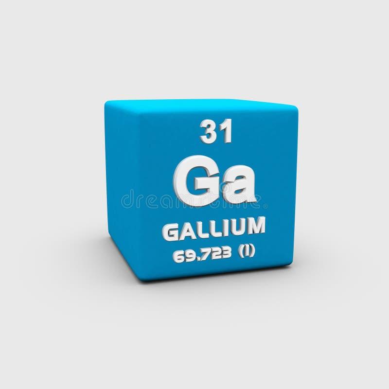 Atomowej liczby gal ilustracja wektor