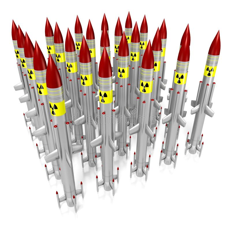 Atomraketen lizenzfreie abbildung