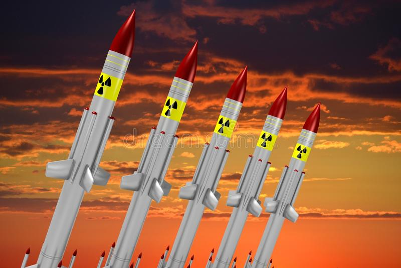 Atomraketen vektor abbildung