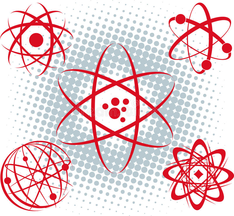 Download Atoms stock vector. Image of science, symbol, nuclear - 31748989