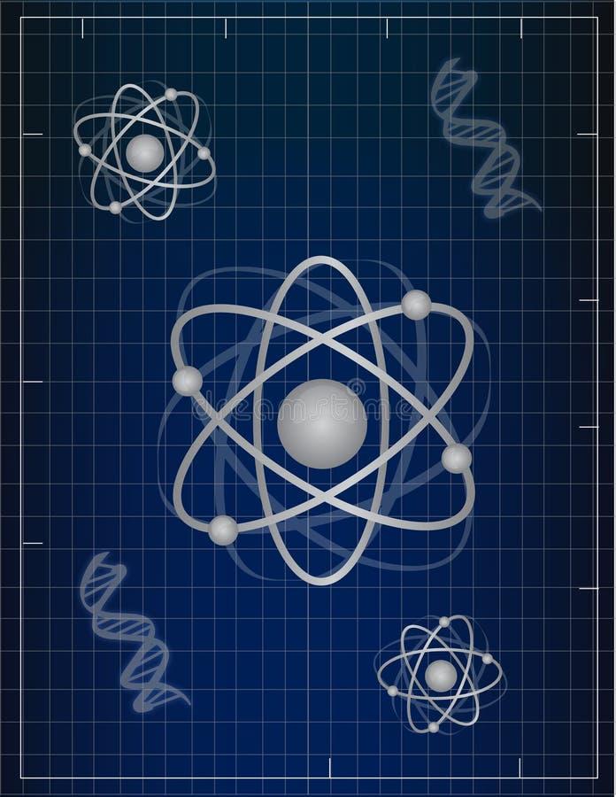 atomsdna stock illustrationer
