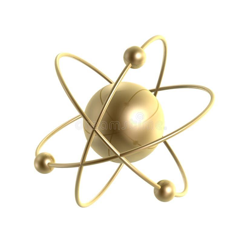 Atomstruktur stock abbildung