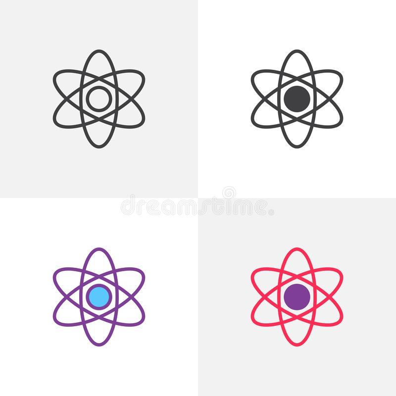 Atomstruktursymbol stock illustrationer