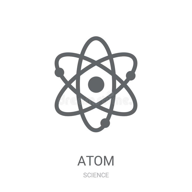 Atomsymbol  royaltyfri illustrationer