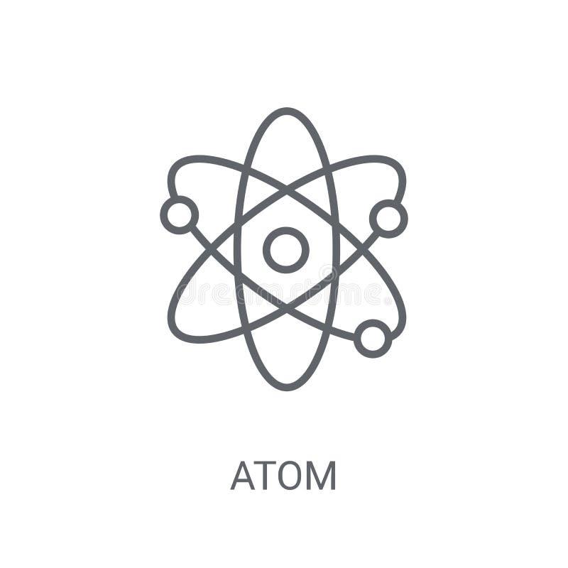 Atomsymbol Moderiktigt atomlogobegrepp på vit bakgrund från Sci vektor illustrationer