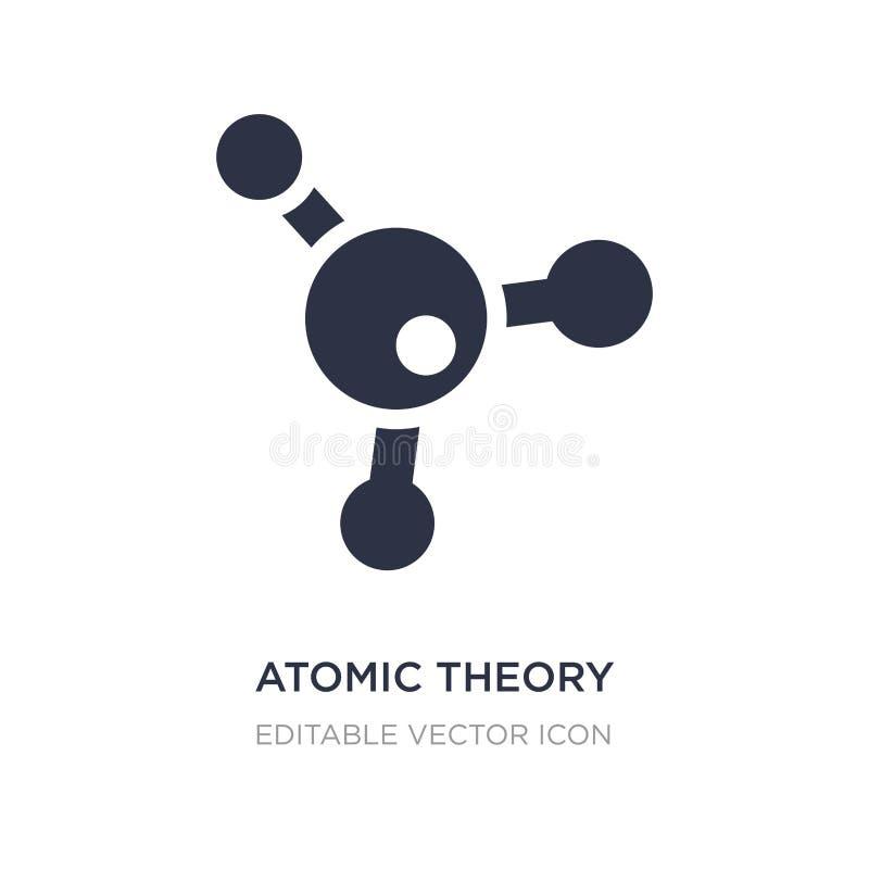 Atomtheorieikone auf weißem Hintergrund Einfache Elementillustration vom Ausbildungskonzept lizenzfreie abbildung