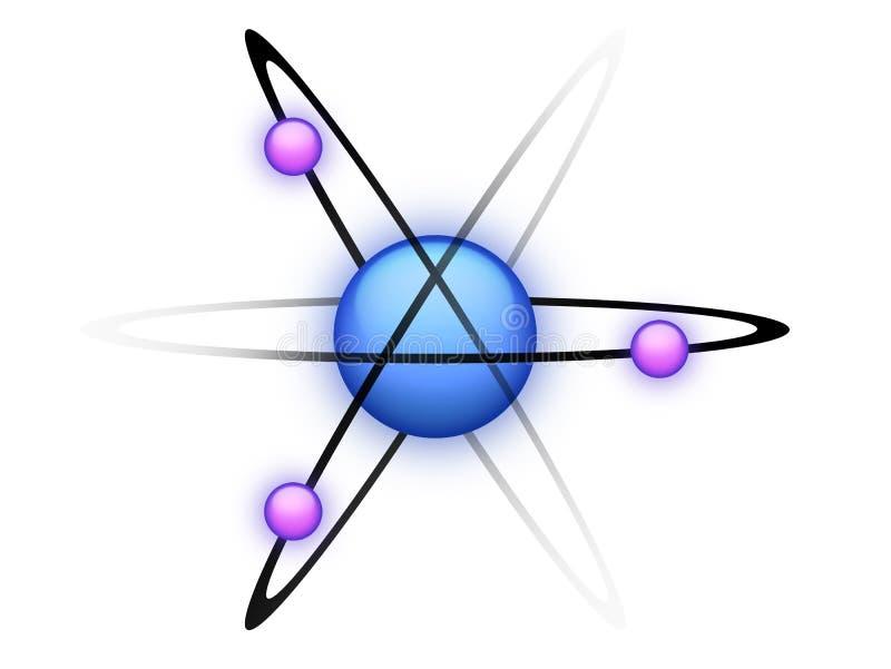 atomu błękit royalty ilustracja
