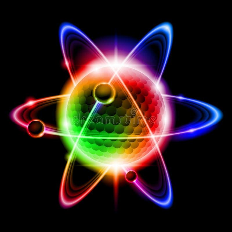 atomu elektronu zieleń ilustracji