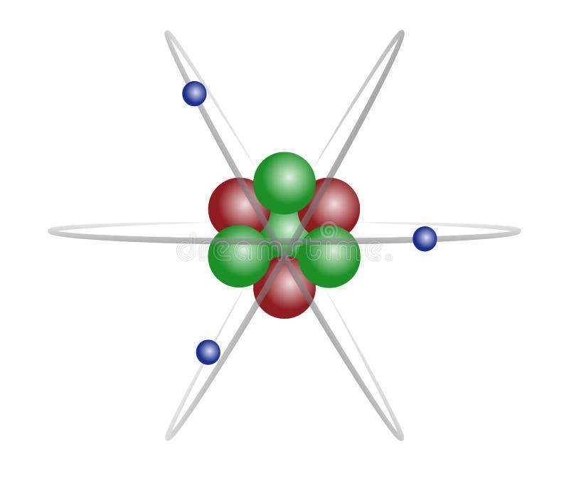 atomu lit zdjęcie stock