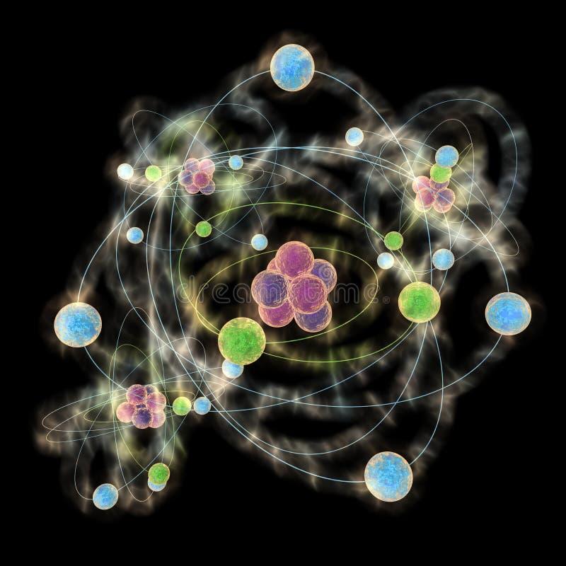 atomu planetarny wzorcowy ilustracja wektor