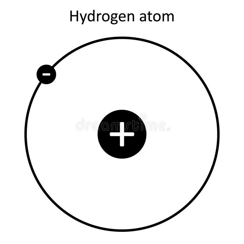 atomu tła wodorowy biel ilustracja wektor