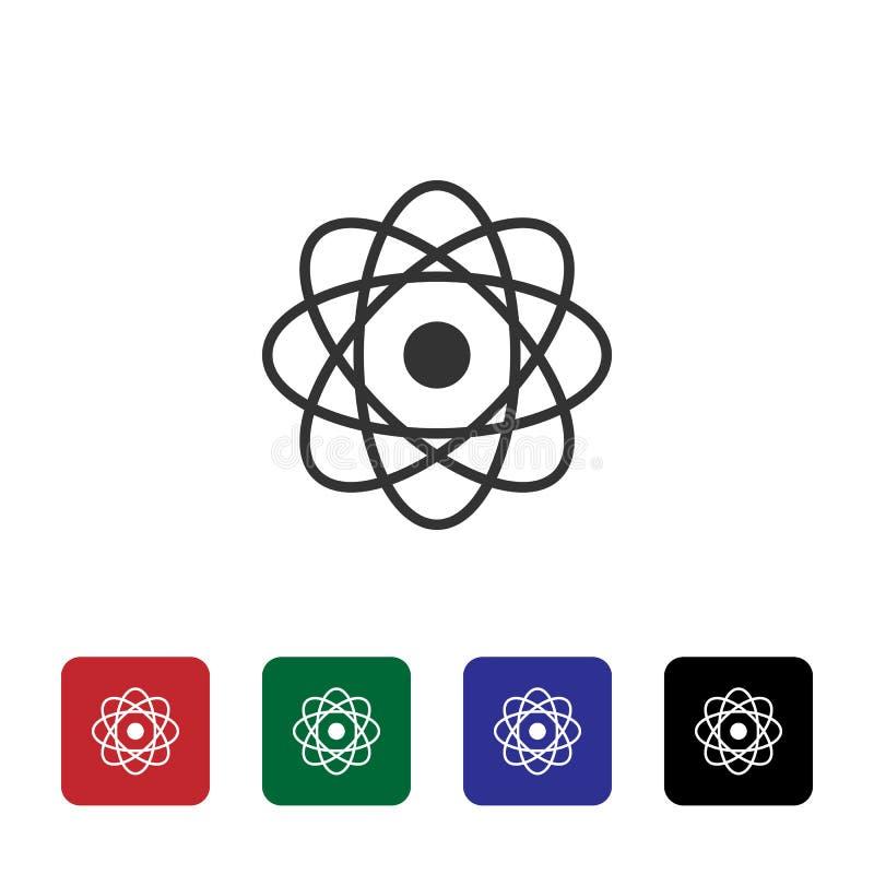 Atomu wektoru ikona Prosta element ilustracja od biotechnologii poj?cia Atomu wektoru ikona Bioengineering wektoru ilustracja ilustracja wektor