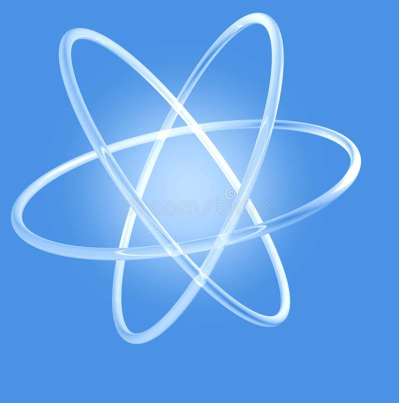 atomy świecić obrazy stock