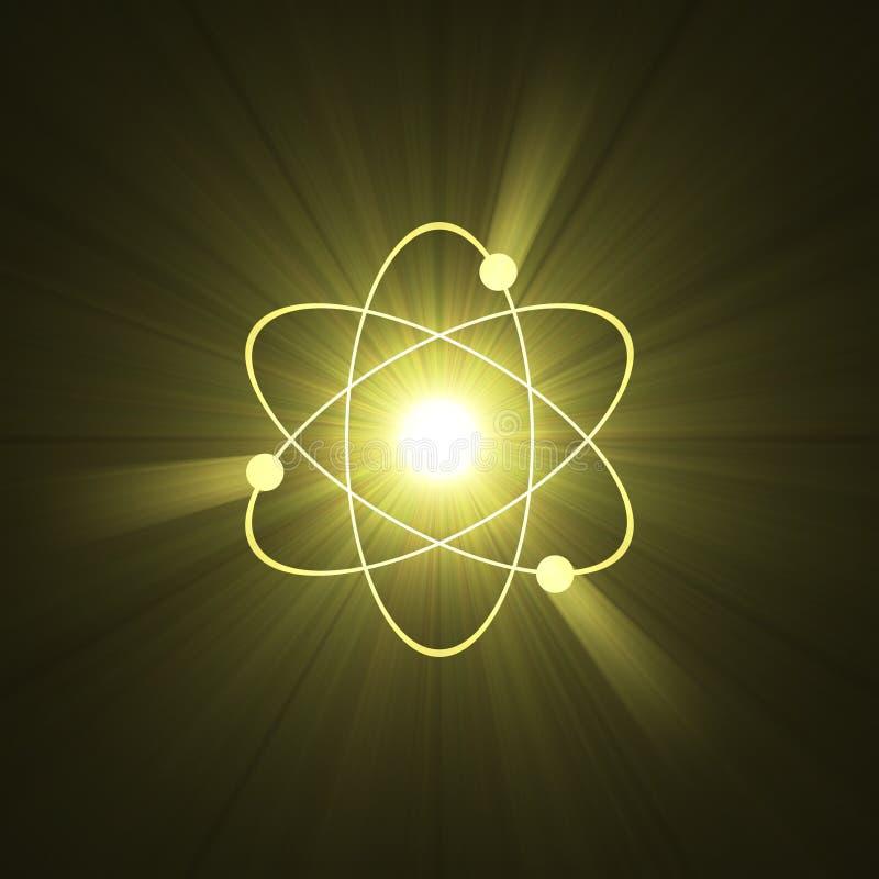 atomy aureolę światła jądrowej struktury znaku royalty ilustracja