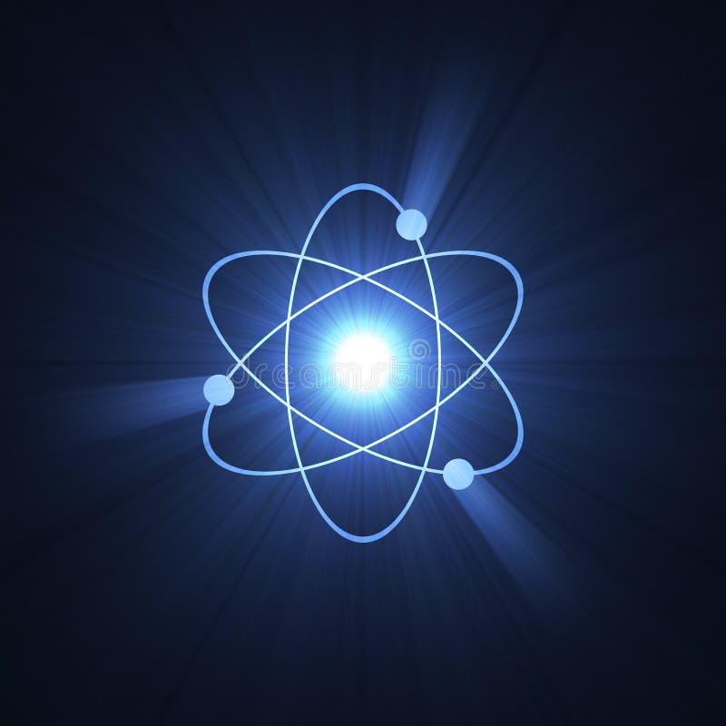 atomy aureolę znaku jądrowa konstrukcji ilustracja wektor