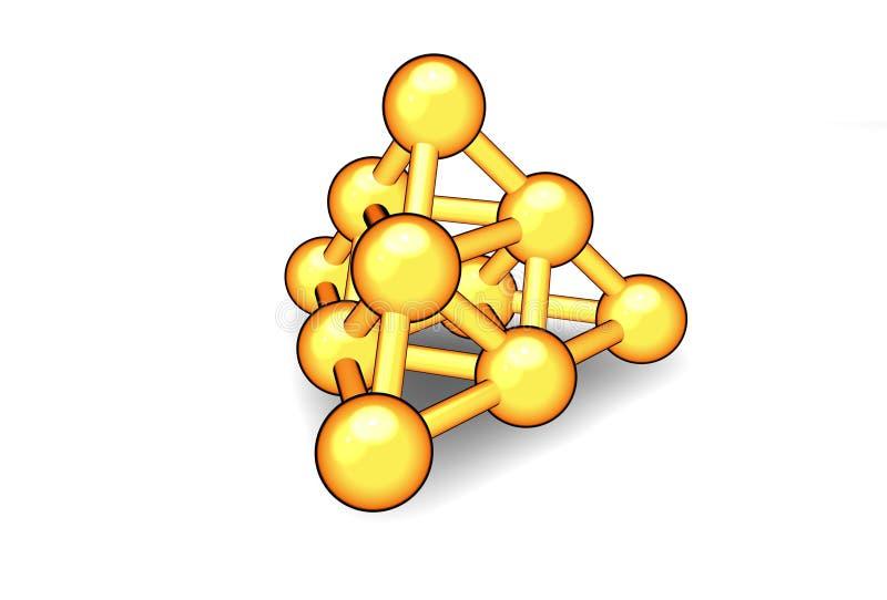 atomy kompleksu ilustracja wektor