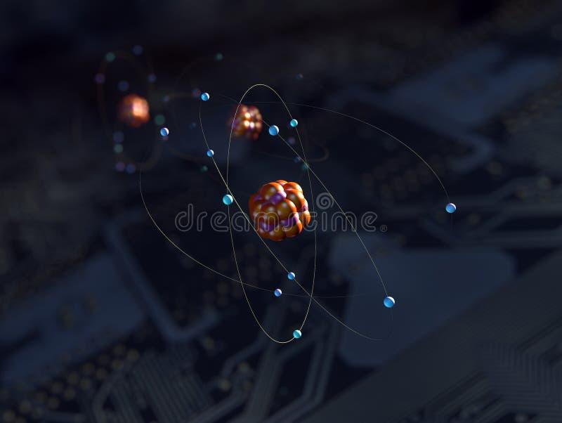 Atomy nad obwodem ilustracji