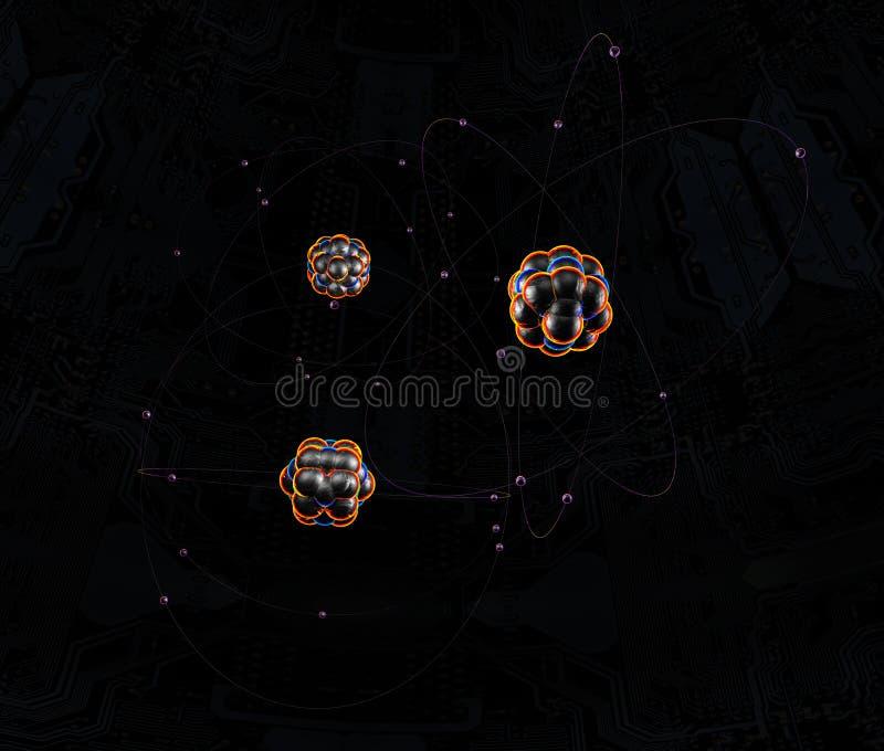 Atomy w przestrzeni obraz royalty free