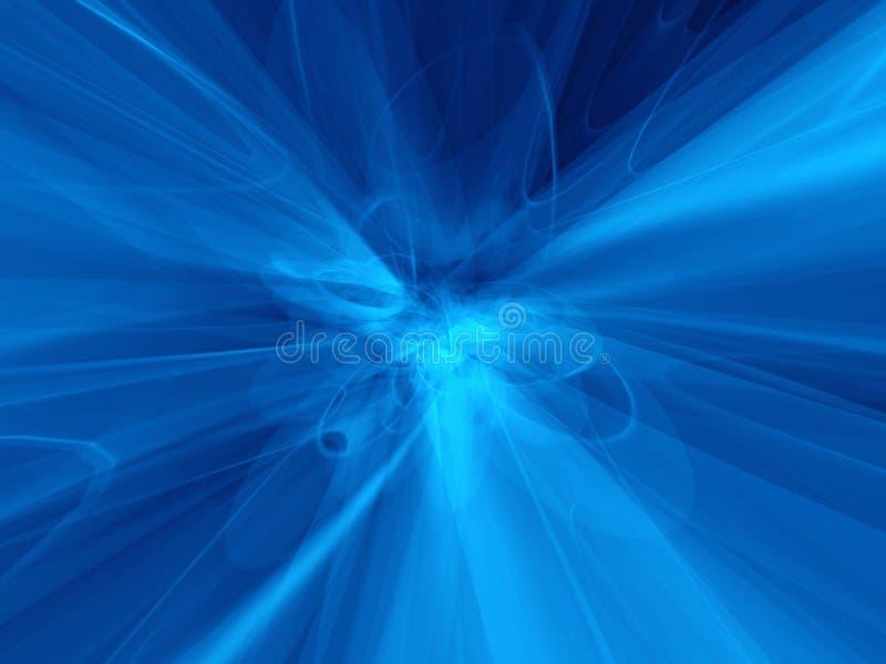 Atoom blauwe verwarring vector illustratie