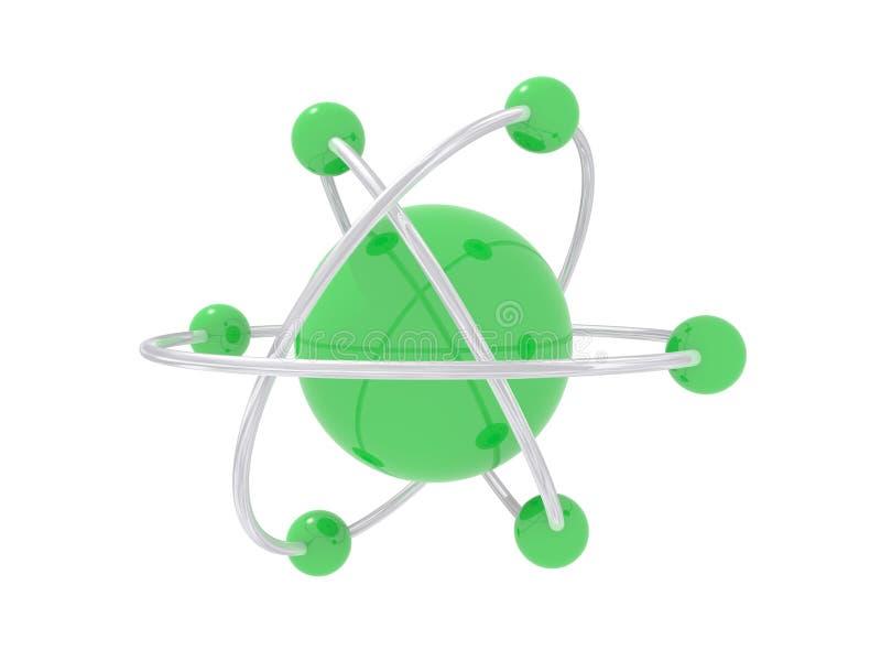 Atoom en elektronen   stock afbeeldingen