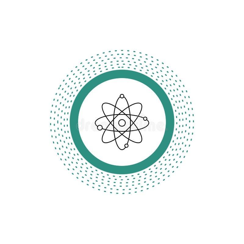 atoom, kern, molecule, chemie, het Pictogram van de wetenschapslijn Vector ge?soleerde illustratie stock illustratie