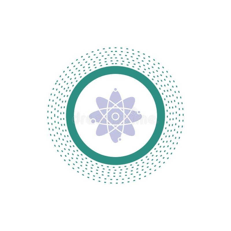 atoom, kern, molecule, chemie, het Pictogram van wetenschapsglyph Vector ge?soleerde illustratie vector illustratie
