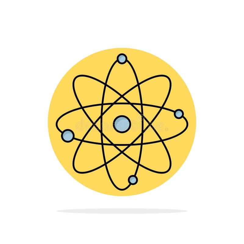 atoom, kern, molecule, chemie, het Pictogramvector van de wetenschaps Vlakke Kleur royalty-vrije illustratie