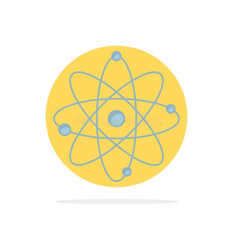 atoom, kern, molecule, chemie, het Pictogramvector van de wetenschaps Vlakke Kleur stock illustratie