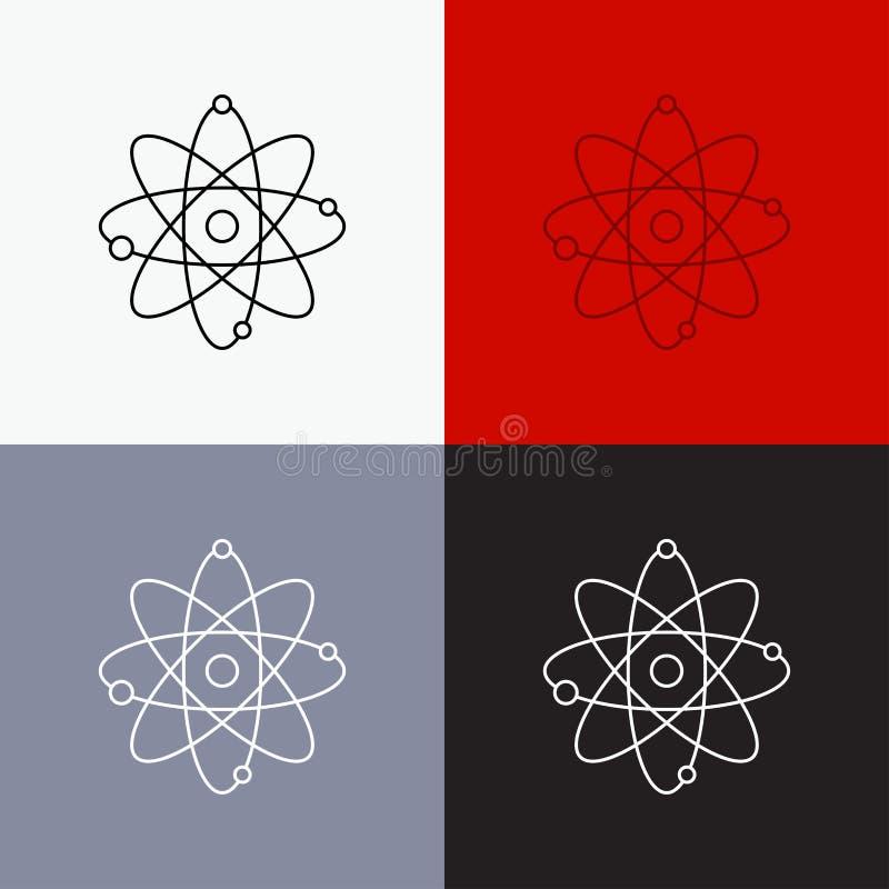 atoom, kern, molecule, chemie, wetenschapspictogram over Diverse Achtergrond r Eps 10 stock illustratie