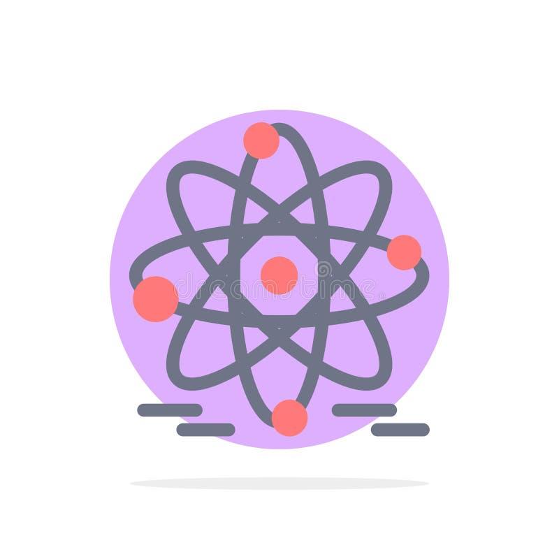Atoom, Onderwijs, Kern Abstract Cirkel Achtergrond Vlak kleurenpictogram vector illustratie