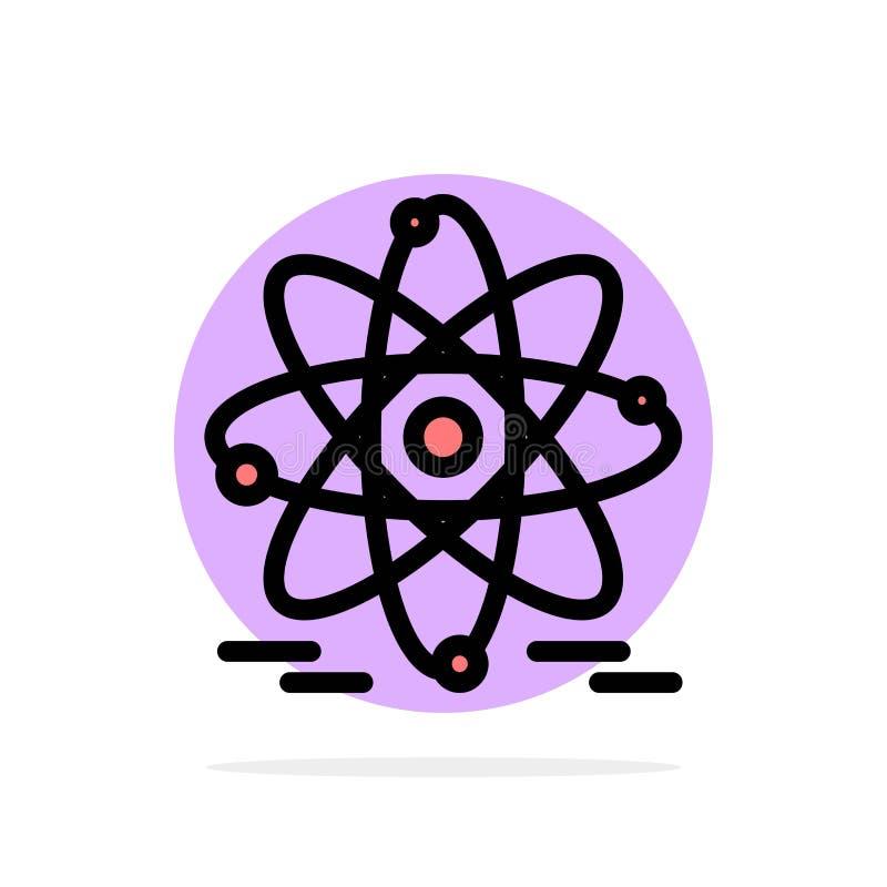 Atoom, Onderwijs, Kern Abstract Cirkel Achtergrond Vlak kleurenpictogram royalty-vrije illustratie