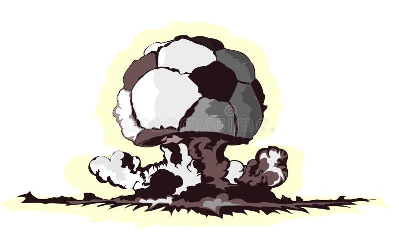 Atoom paddestoel in vorm van voetbalbal vector illustratie