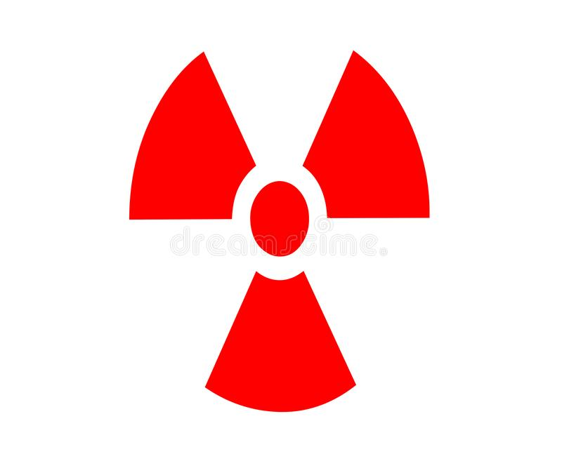 Atoom rode radioactieve verbinding van illustratie stock illustratie