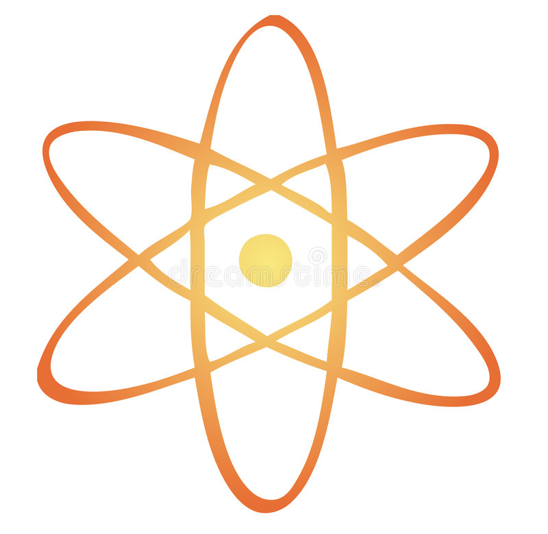 Atoom symbool royalty-vrije illustratie