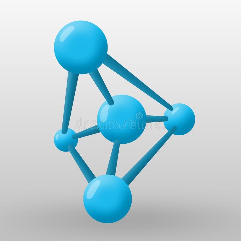 Atoom vector stock afbeelding