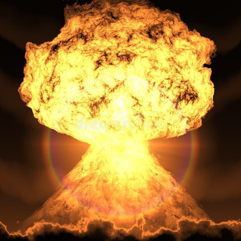 Atoombomexplosie vector illustratie