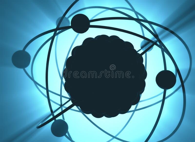 Atoomkernenergieenergie royalty-vrije illustratie
