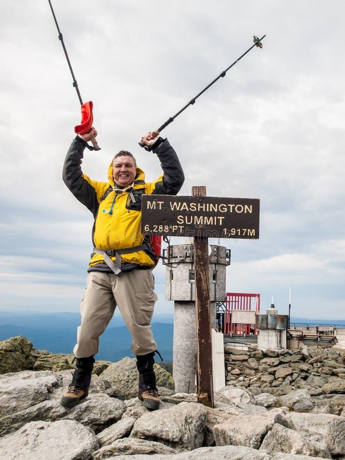 Atop Mt. Washington stock photos