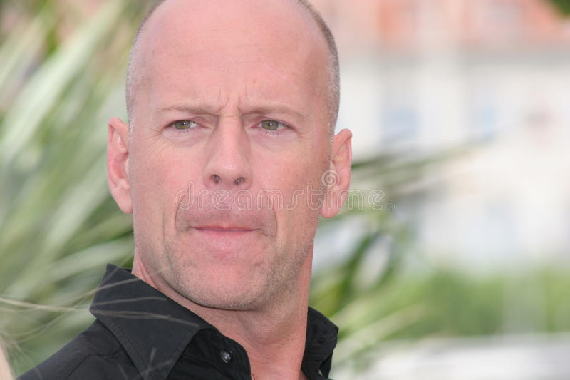 Ator Bruce Willis fotografia de stock royalty free