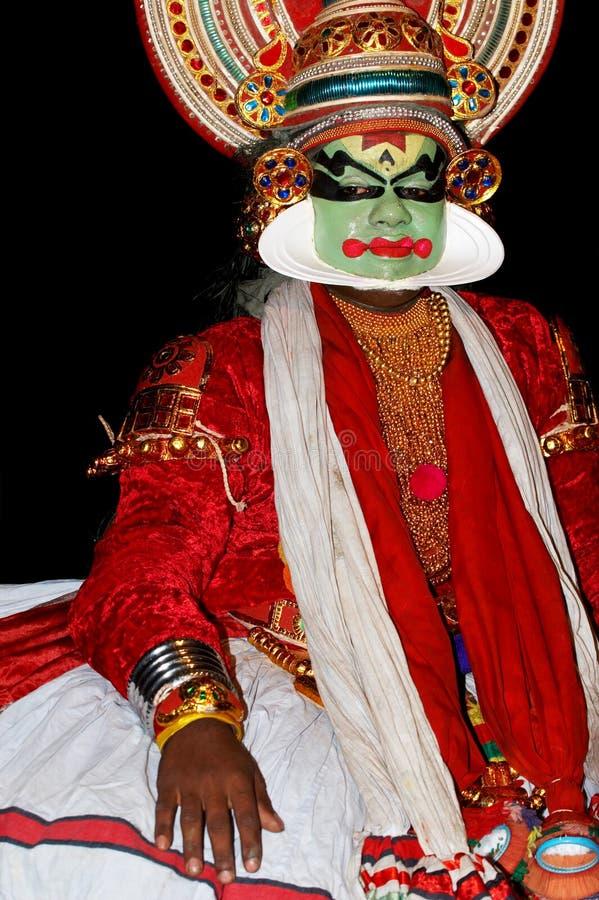 Ator da dança do tradional de Kathakali foto de stock