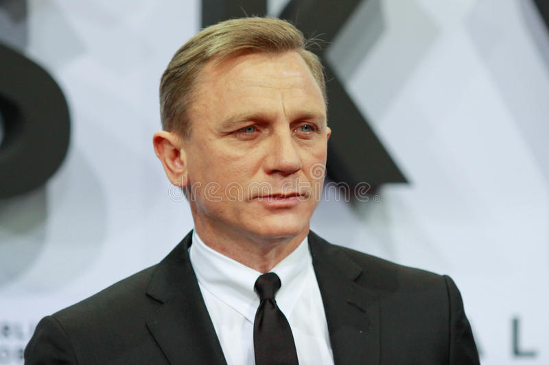 Ator Daniel Craig fotos de stock royalty free