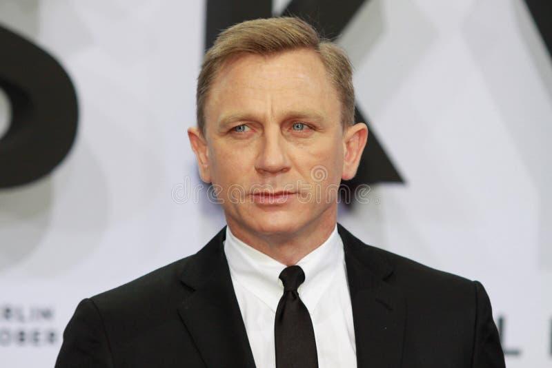 Ator Daniel Craig imagens de stock